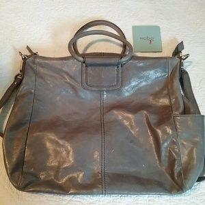 Hobo International Sheila bag. Gray leather